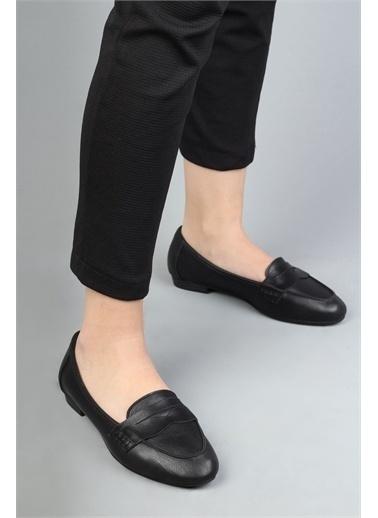 Modabuymus Modabuymus Hakiki Deri Babet  Kadın Ayakkabı - Bilder Siyah